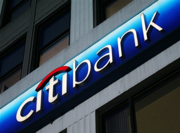 **FILE** The Citibank logo is shown on a branch office in this April 11, 2007 file photo in New York.  Citibank is expected to release quarterly earnings, Monday, Oct. 15, 2007. (AP Photo/Mark Lennihan, file)