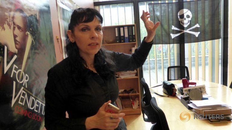 Birgitta Jonsdottir, líder del Partido Pirata