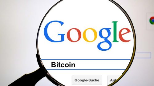 Búsqueda de palabra Bitcoin en Google