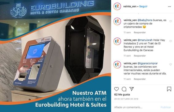 cajero veinte eurobuilding