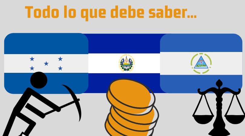 Bitcoin en Nicaragua, El Salvador y Honduras