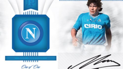 coleccionable Blockchain de Maradona en Panini