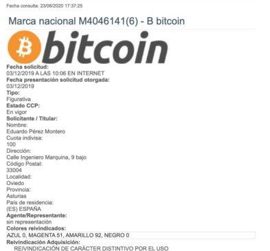 patente bitcoin España