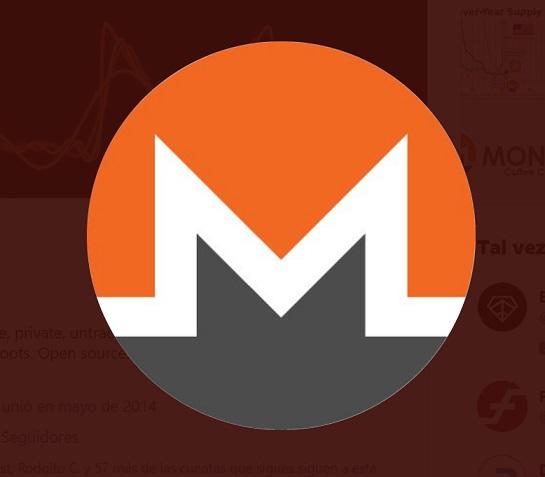 Logo monero Twitter