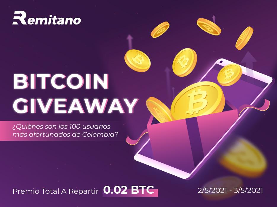 Aprovecha la oportunidad de ganar 0.02 BTC a repartir con Remitano