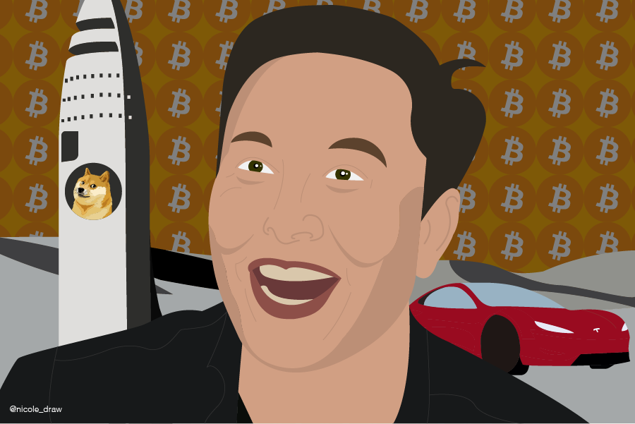 Elon Musk por https://nicoleleon.design