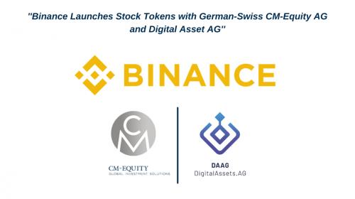 Binance lanza tokens de acciones con la suizo-germana CM-Equity AG y Digital Asset AG