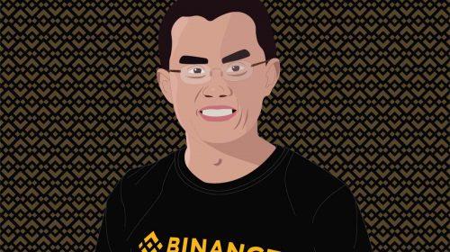 Changpeng Zhao, ilustrado por Nicole Leon https://nicoleleon.design Bajo dominio público